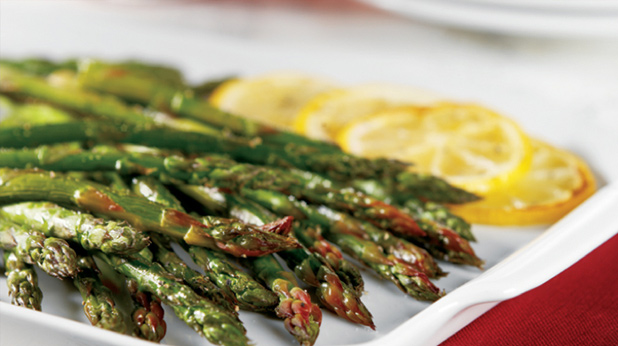 Broiled Asparagus Spears with Lemon