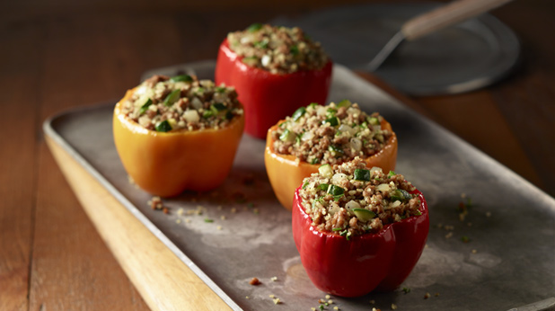 Curry Stuffed Bell Peppers