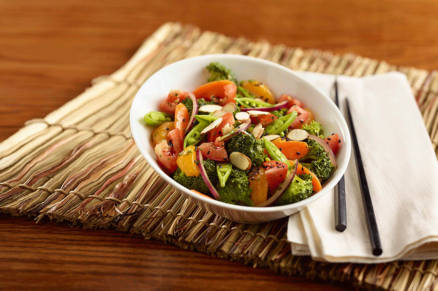 Asian Marinated Vegetable Salad with Citrus Vinaigrette