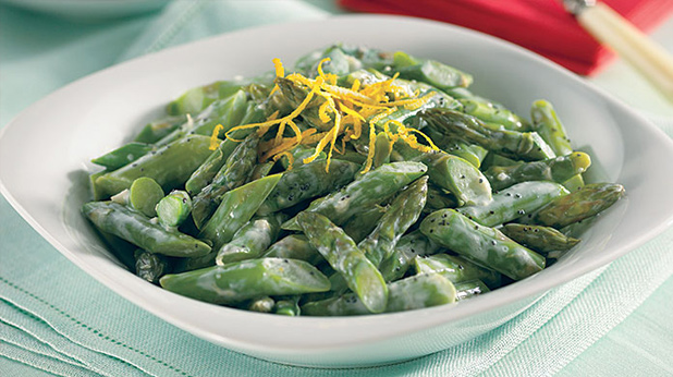 Asparagus Salad with Lemon Garlic Dressing