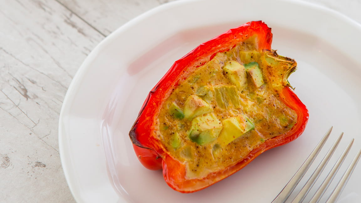 Avocado bell pepper quiche recipe
