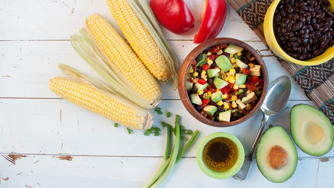 Avocado, Black Bean and Corn Salsa