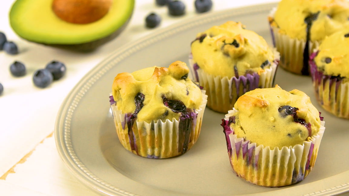 Avocado Blueberry Muffins