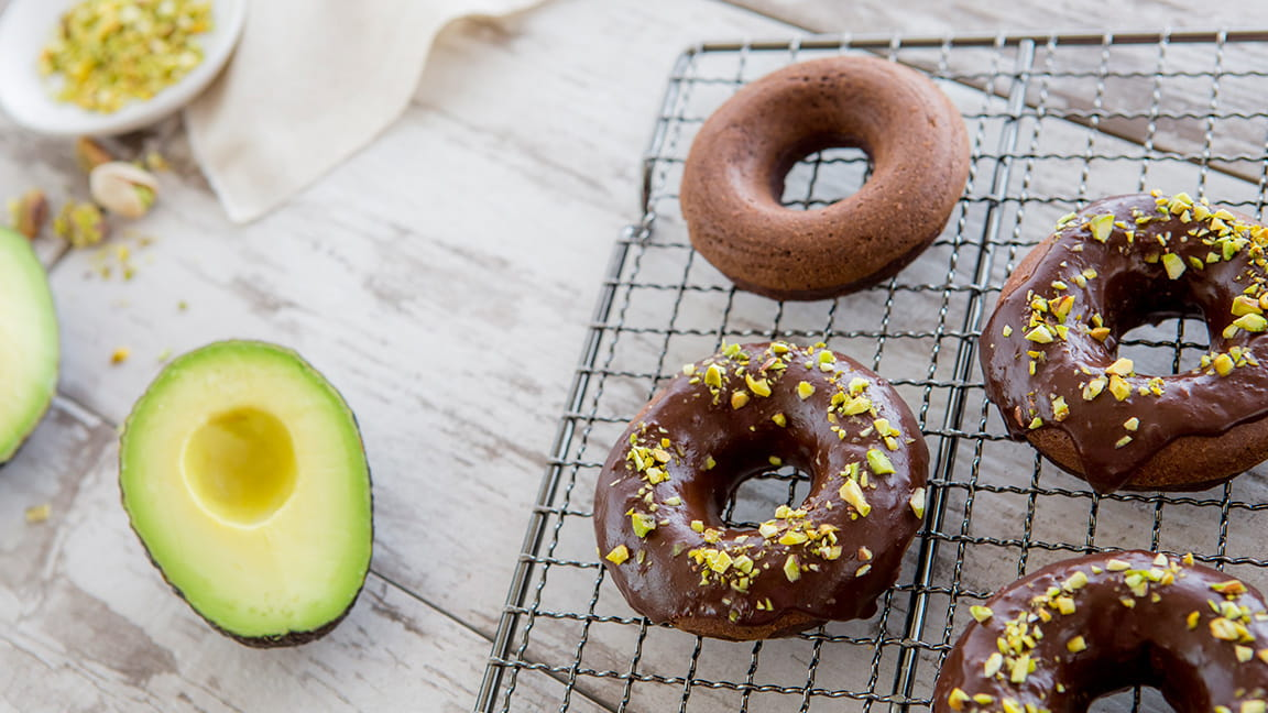 Avocado chocolate donuts recipe