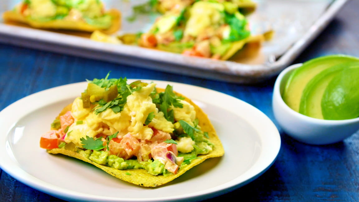 Better Breakfast Tostada with Avocado and Eggs