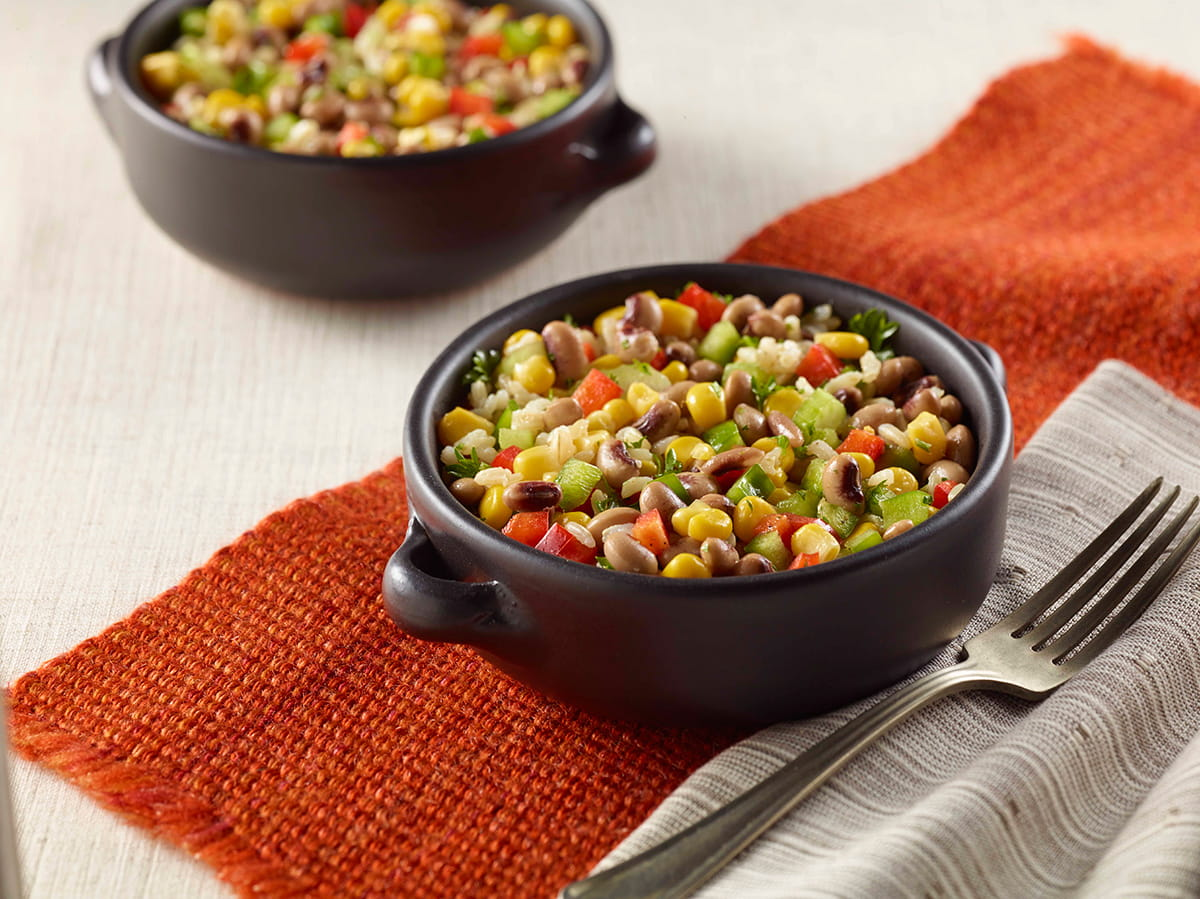 Black Eyed Pea, Corn and Rice Salad