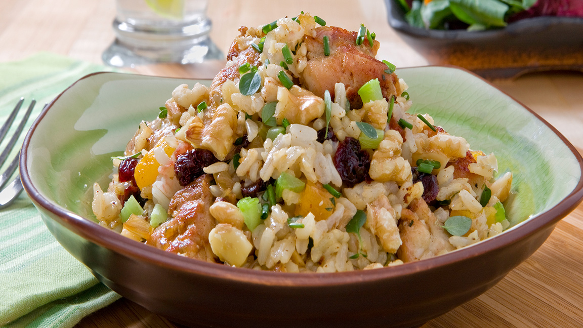 Chicken Walnut and Brown Rice