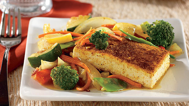 Curry Spiced Tofu with Asian Vegetables