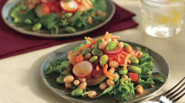 Edamame Salad with Orange Balsamic Dressing