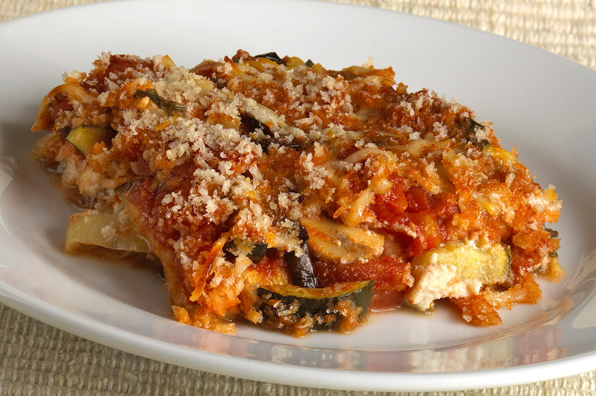 Eggplant, Cheese & Tomato Bake