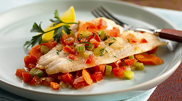 Fish Fillets with Fresh Tomatoes