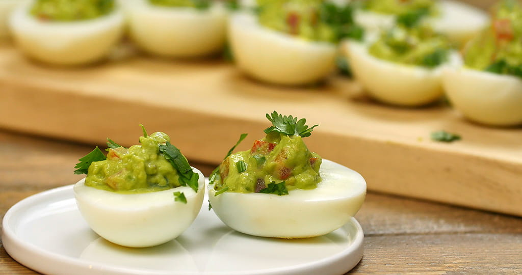 guacamole and deviled eggs