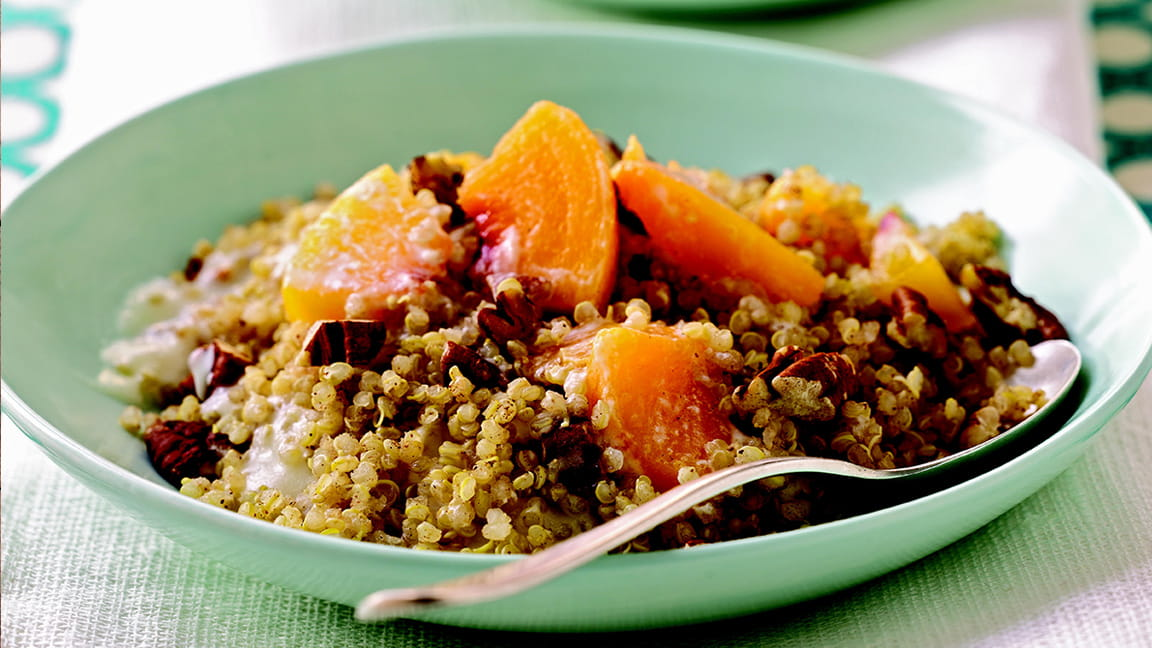 Cinnamon Quinoa with Peaches