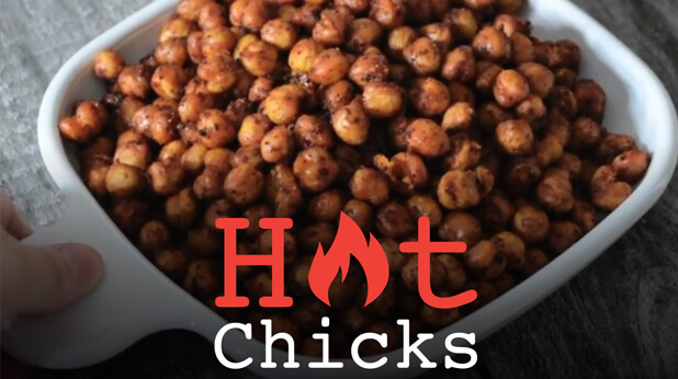 Spicy Oven Roasted Chickpeas - Hot Chicks