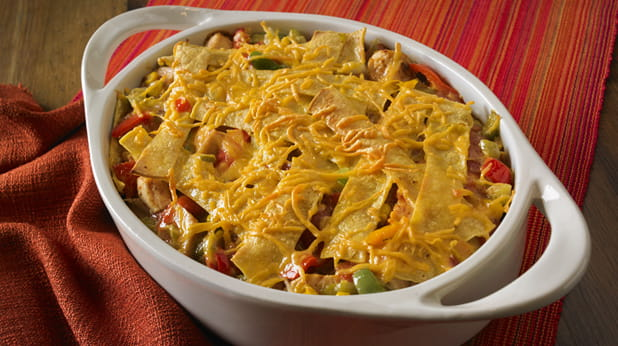 Kid Friendly Light King Ranch Chicken Casserole