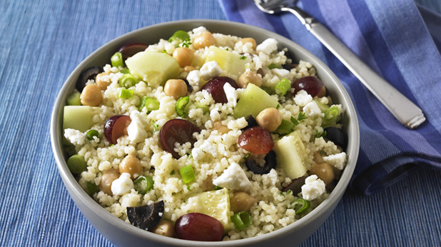 Mediterranean Couscous Salad with Chickpeas