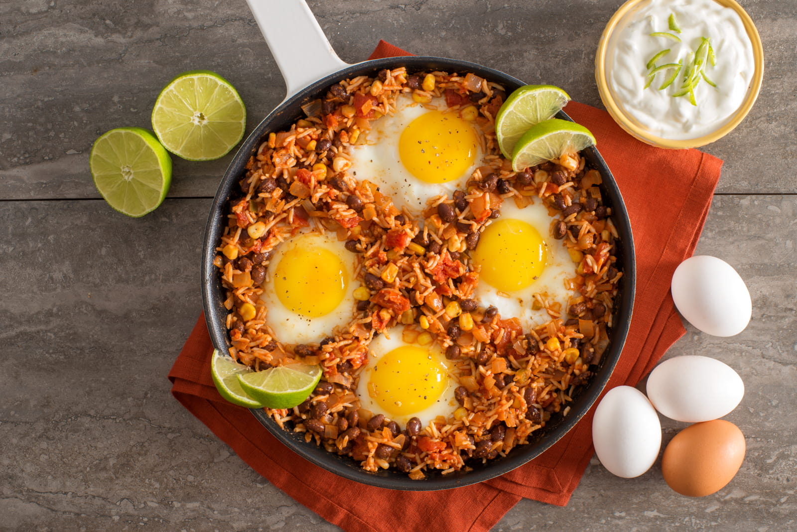 Mexican Rice And Beans Baked Eggs American Heart Association Recipes