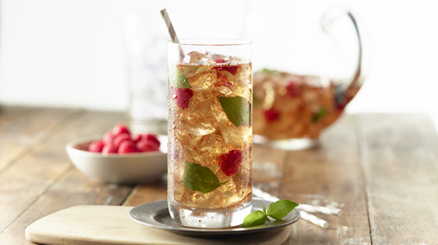Raspberry Basil Iced Tea