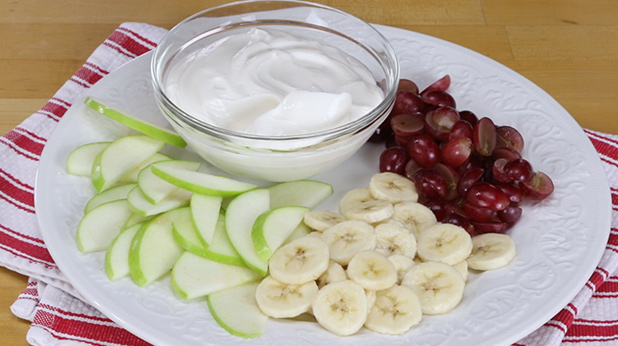 Sliced Fruit With Honey Vanilla Yogurt Dip American Heart
