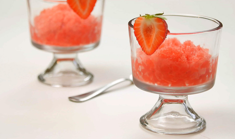 Strawberry Lemonade Italian Ice