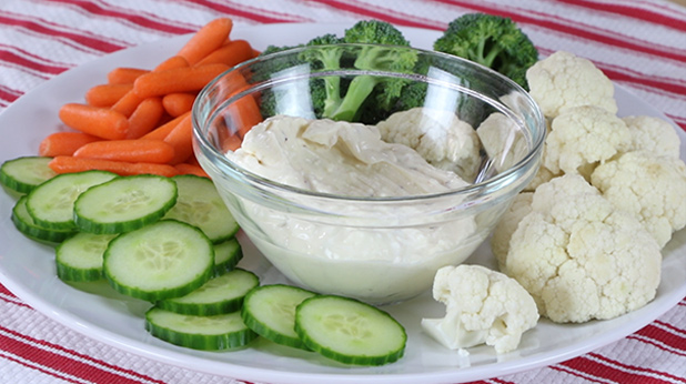Sweet & Spicy Mustard Dip with Veggie Dippers