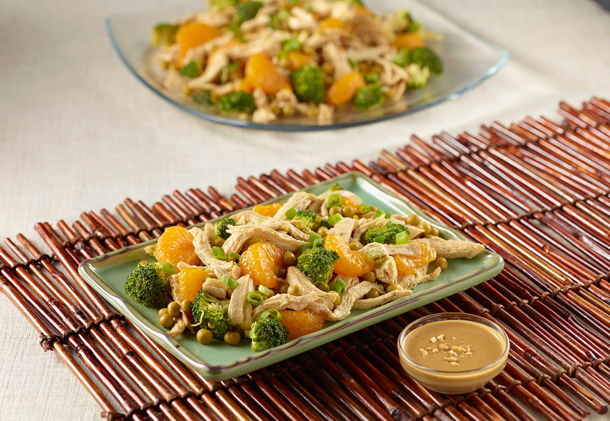 Thai Chicken Broccoli Salad with Peanut Dressing