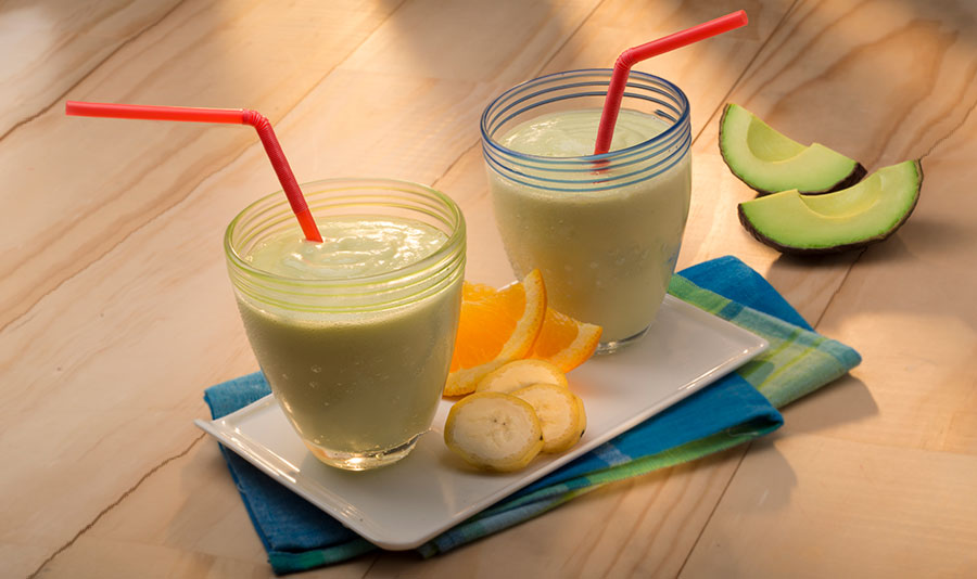 Avocados From Mexico Avocado, Banana, Orange and Yogurt Smoothie Heart-Check certified recipe