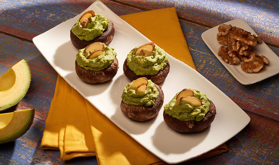 Avocados From Mexico Avocado & Spinach Stuffed Mushroom Bites Heart-Check certified recipe