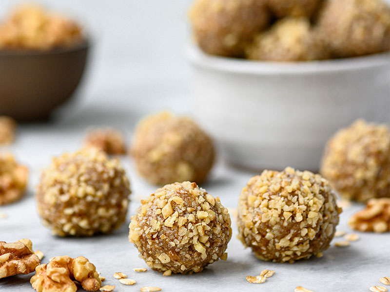 California Walnut Board Maple Walnut Energy Balls