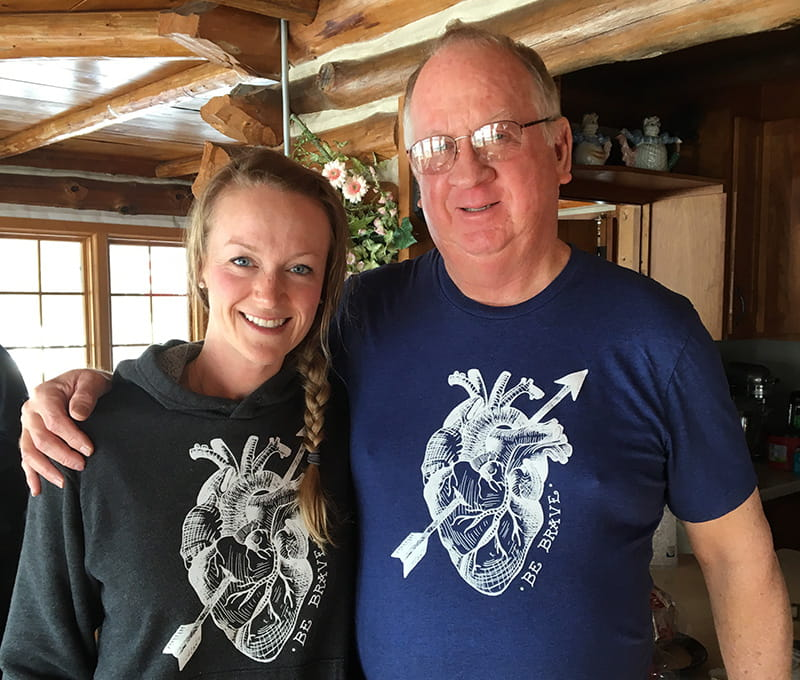 Alicia Bravo's father, Bill Decker (right), saved Alicia's life by performing CPR on her until an EMS crew arrived. (Photo courtesy of Alicia Bravo)